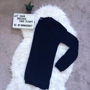🌷• Navy Waffle Knit Cotton & Cashmere Sweater •